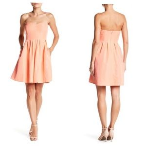 J. CREW Peach Classic Faille Strapless Dress NWT